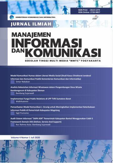 JURNAL ILMIAH MANAJEMEN INFORMASI DAN KOMUNIKASI VOL. 4 NO. 1, JULI 2020