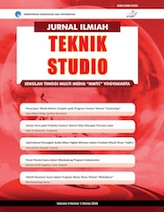 Jurnal Ilmiah Teknik Studio (cover)